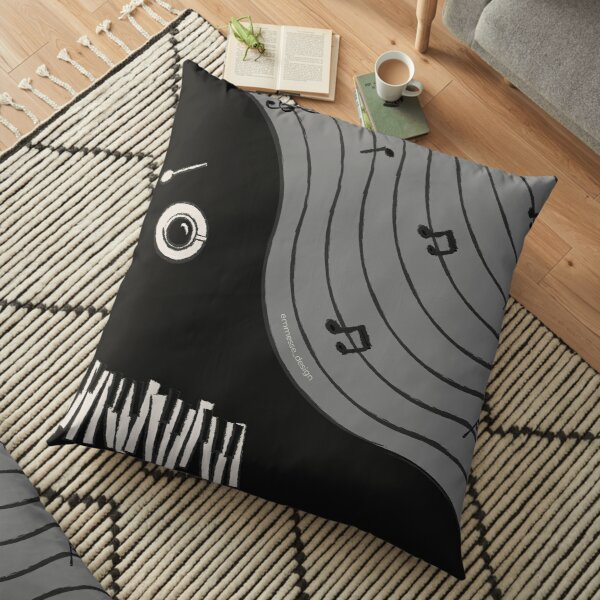 Beeth-piano Floor Pillow