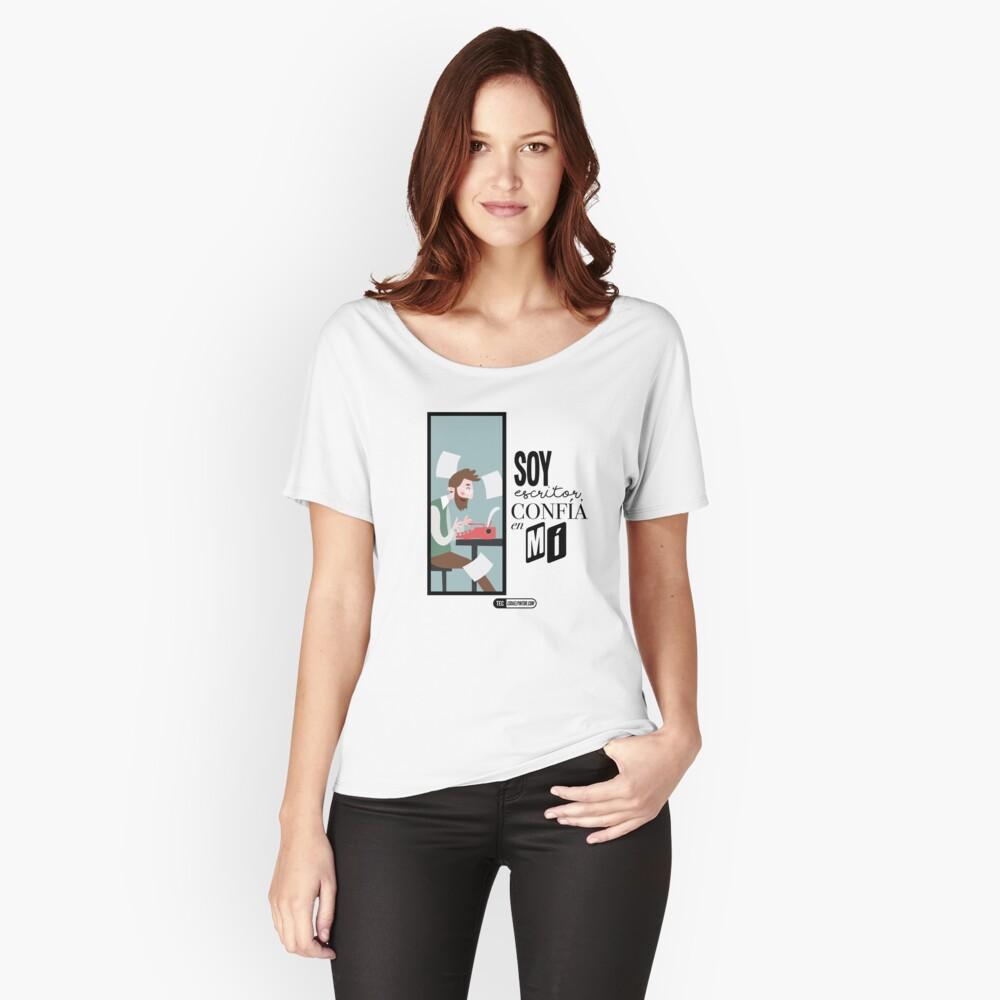 Soy escritor, confía en mí Camiseta ancha