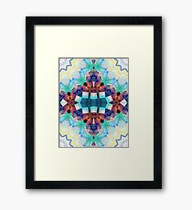 Colorful Textural Abstract Framed Print