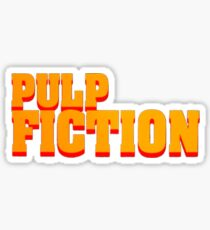 Pulp fiction title Sticker