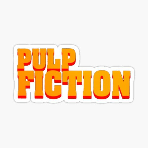 Pulp fiction title Sticker