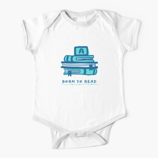 Born to Read Short Sleeve Baby One-Piece