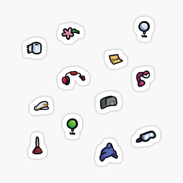 Ensemble d'autocollants de créateur de personnage parmi nous 3 Sticker