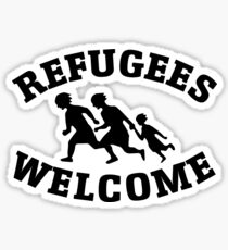 Welcome Refugees Love Peace Sticker