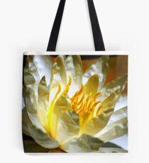 White waterlily (Nymphaea odorata rosea) Tote Bag