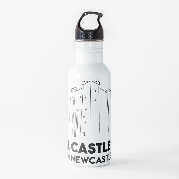 A Castle? In Newcastle? (Black text) Water Bottle