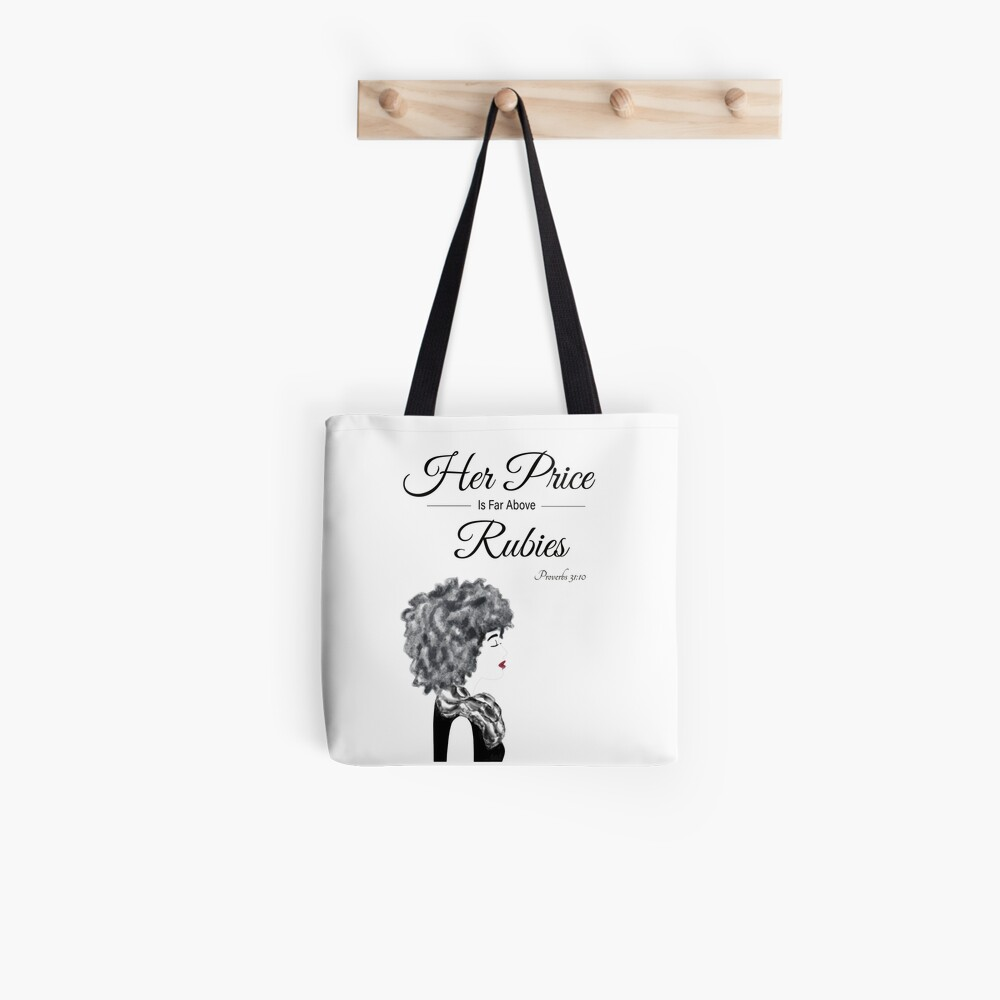 Her Price Above Rubies (AA Woman) Tote Bag