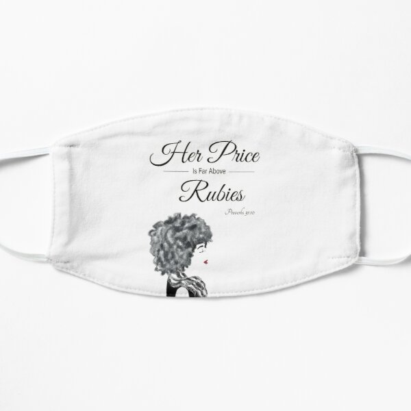 Her Price Above Rubies (AA Woman) Flat Mask