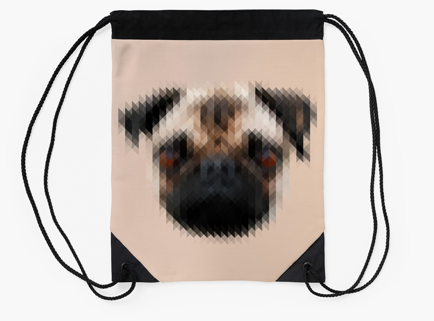 pixelated pug dog