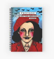 """Nancy """"White Mouse"""" Wake Spiral Notebook"""