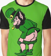 Mooning Leprechaun for St. Patrick's Day! Graphic T-Shirt