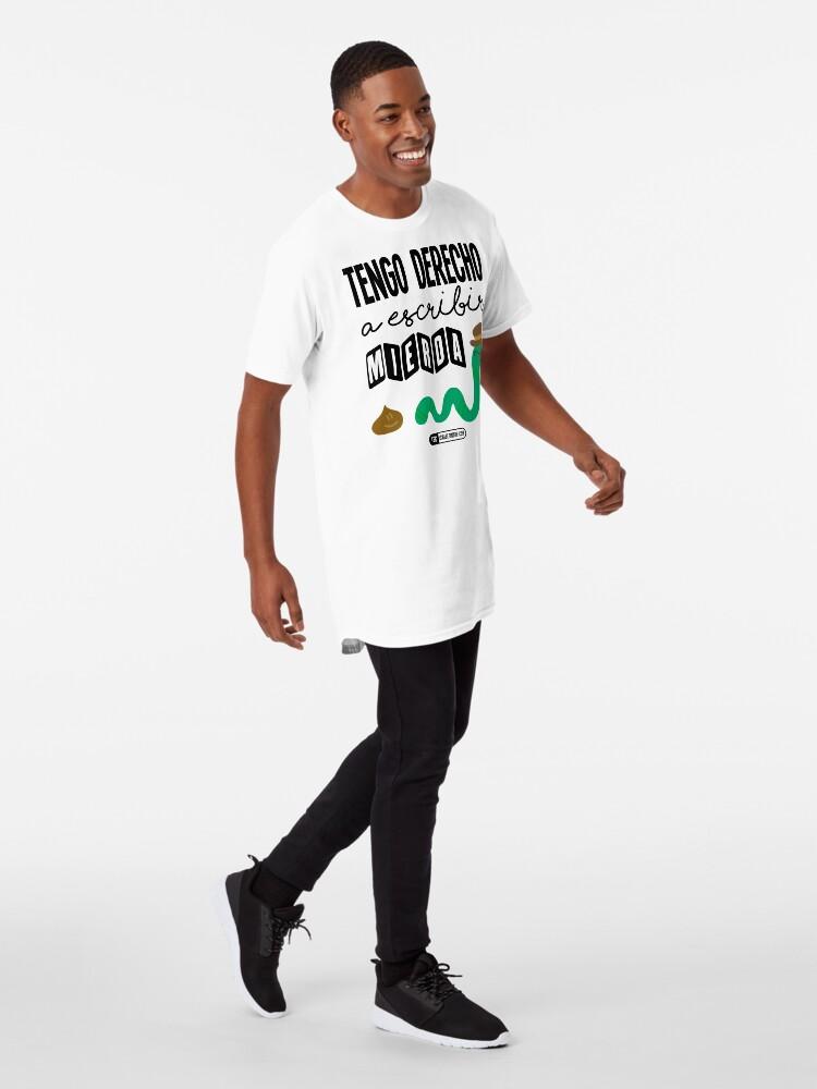 Vista alternativa de Camiseta larga Tengo derecho a escribir mierda