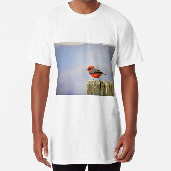 Vermillion fly catcher  Long T-Shirt