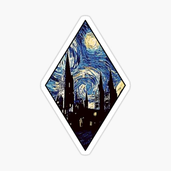 Magic Diamond Castle Blue Night Sky Sticker