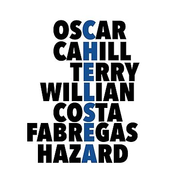 Chelsea spelt using player names by amzyydoodles