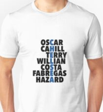 Chelsea spelt using player names Unisex T-Shirt