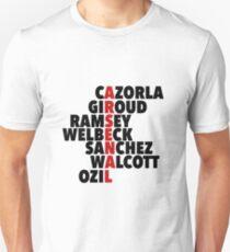 Arsenal spelt using player names T-Shirt