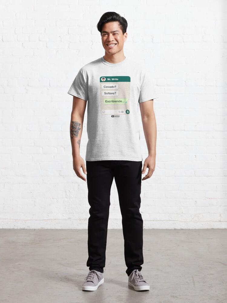 Vista alternativa de Camiseta clásica Casado? Soltero? Escribiendo... Para hombres gay