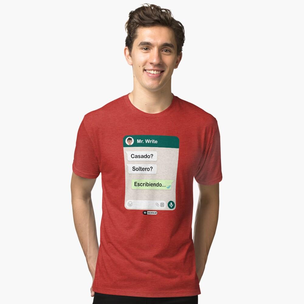 Casado? Soltero? Escribiendo... Para hombres gay Camiseta de tejido mixto