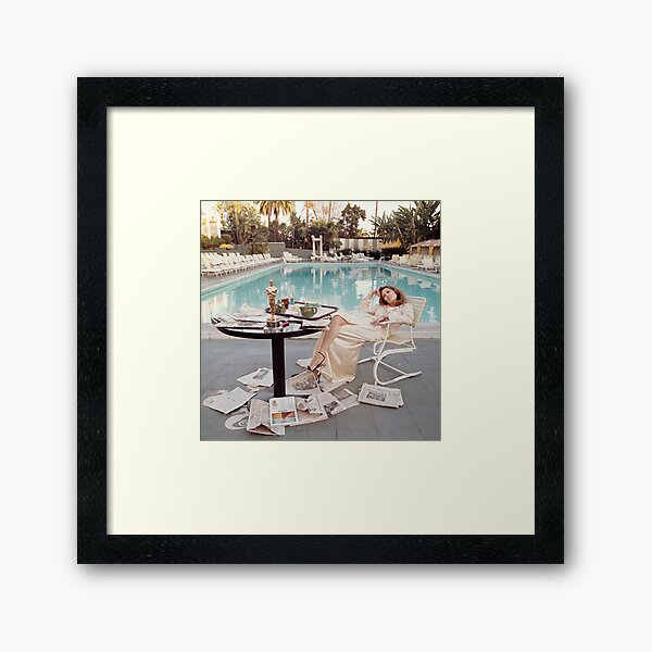 In Poolsides - Faye Dunaway  Framed Art Print