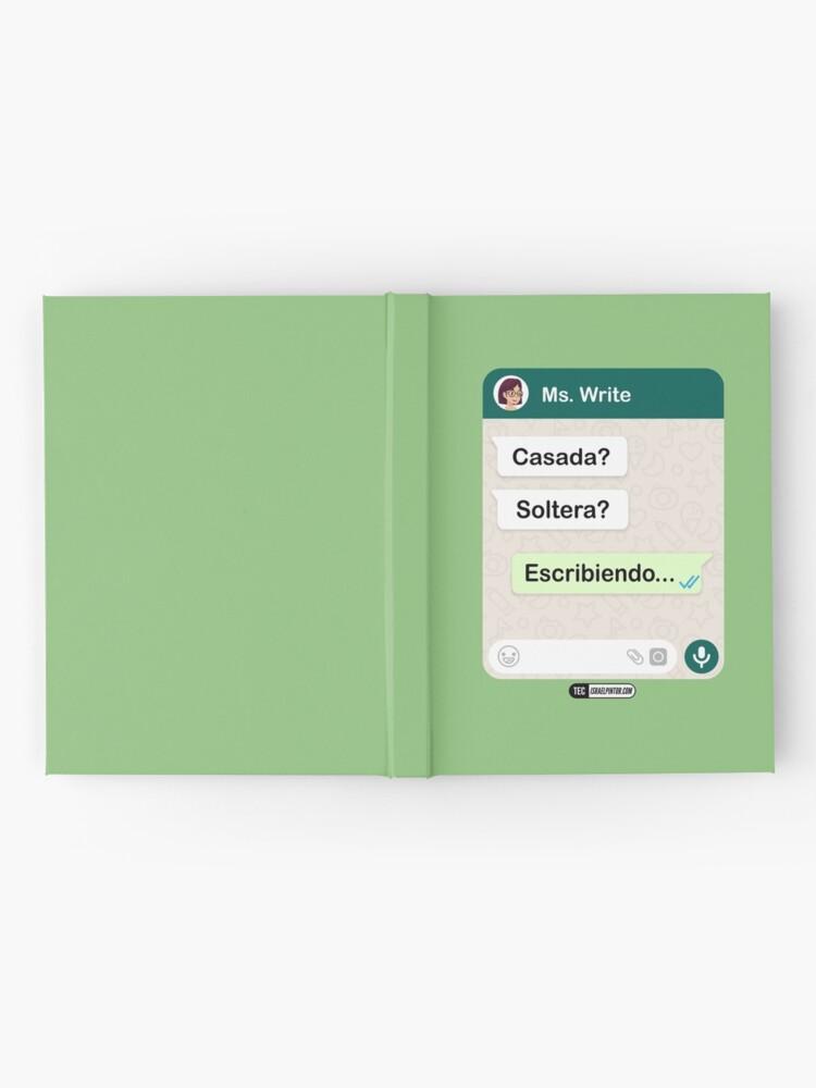 Vista alternativa de Cuaderno de tapa dura Casada? Soltera? Escribiendo... Para mujeres lesbianas