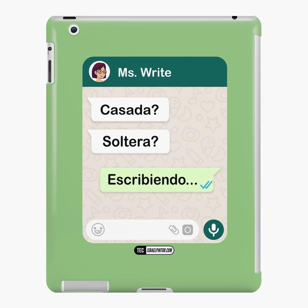 Casada? Soltera? Escribiendo... Para mujeres lesbianas Funda y vinilo para iPad