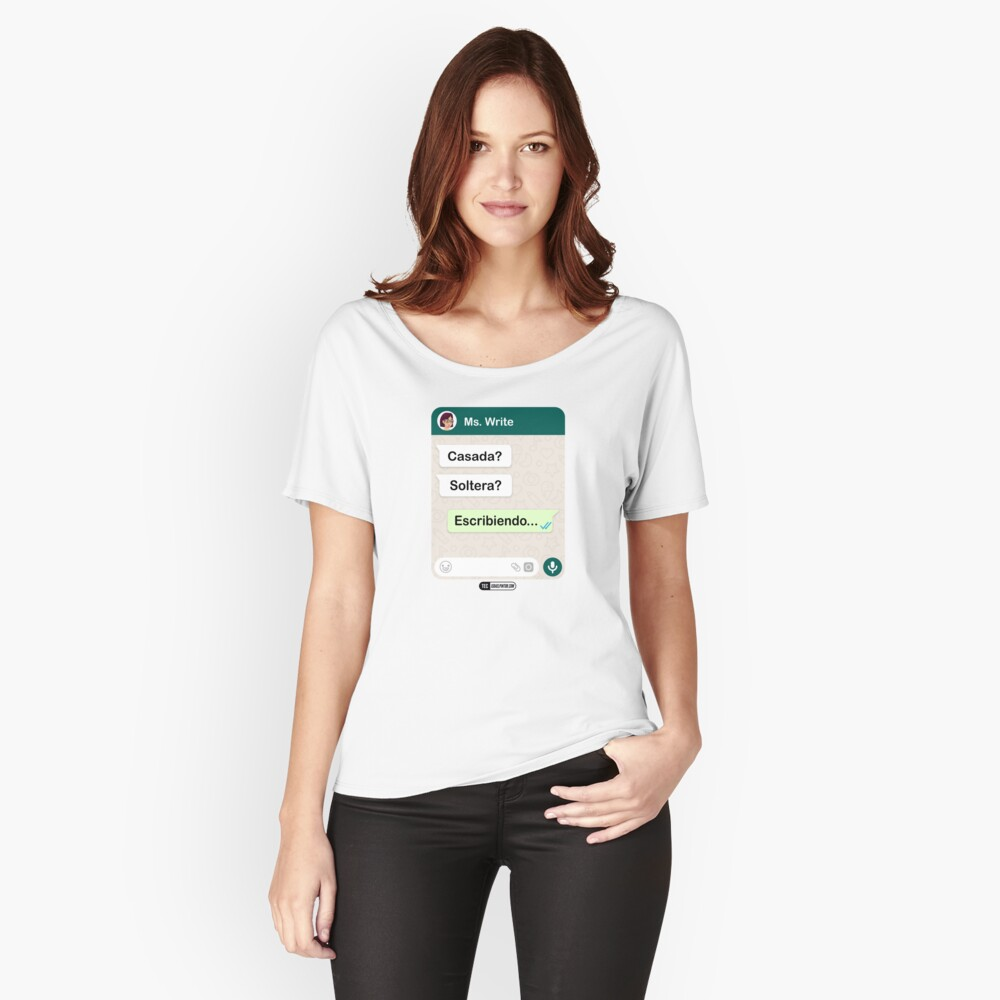 Casada? Soltera? Escribiendo... Para mujeres lesbianas Camiseta ancha