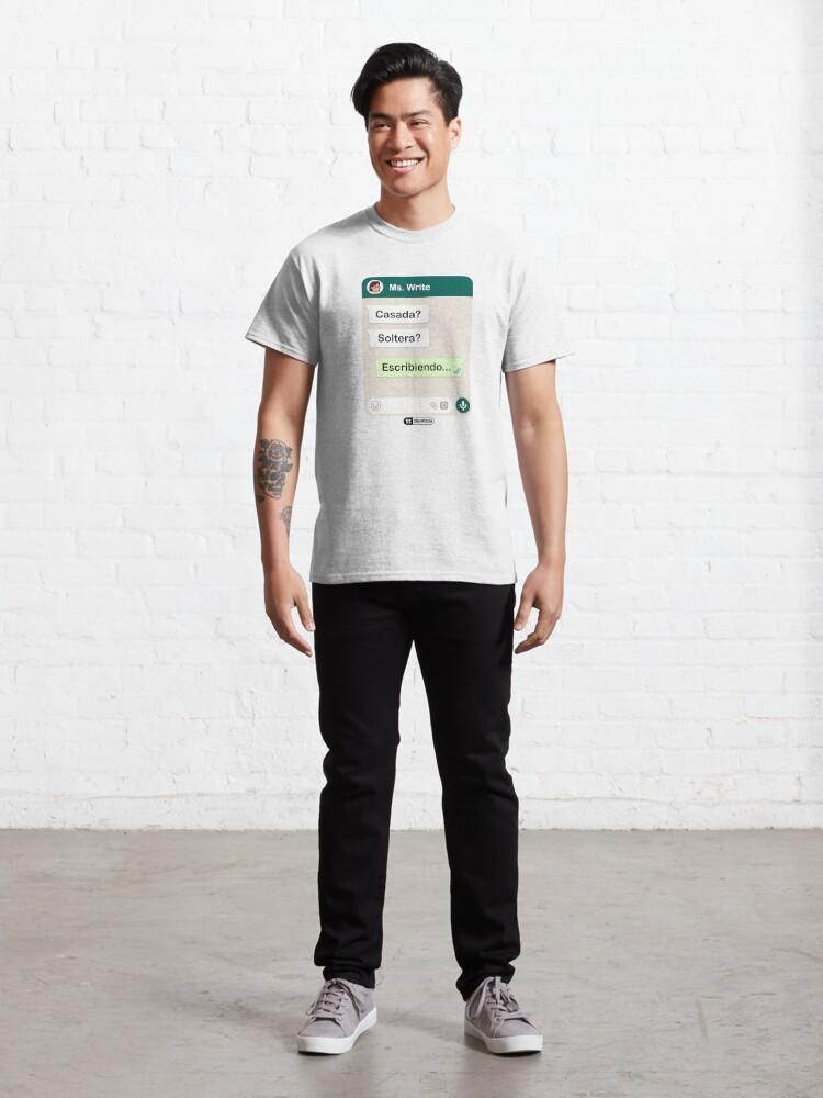 Vista alternativa de Camiseta clásica Casada? Soltera? Escribiendo... Para mujeres lesbianas