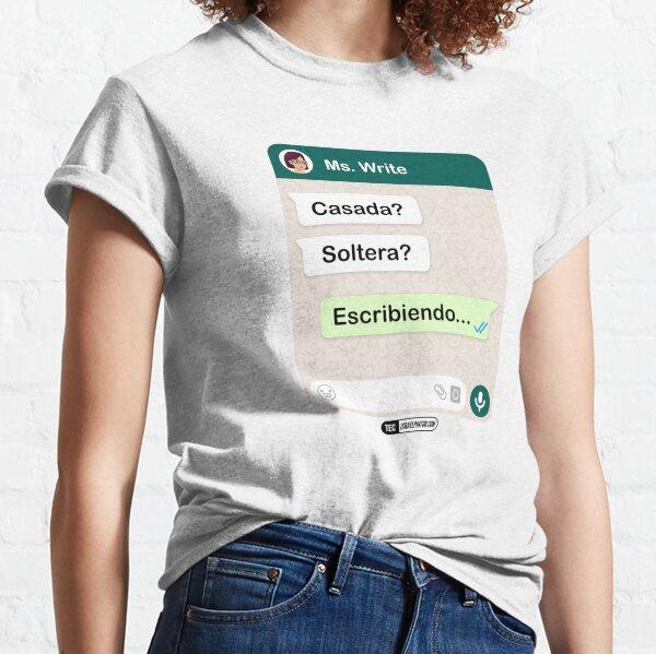 Casada? Soltera? Escribiendo... Para mujeres lesbianas Camiseta clásica