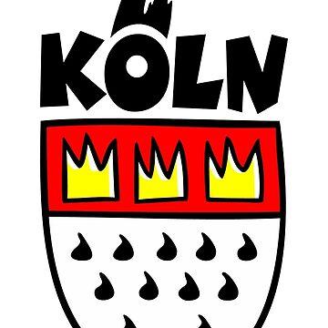 Ein Wappen von Köln by theshirtshops