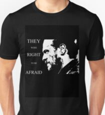 They were right to be afraid [cpt. Flint] T-Shirt