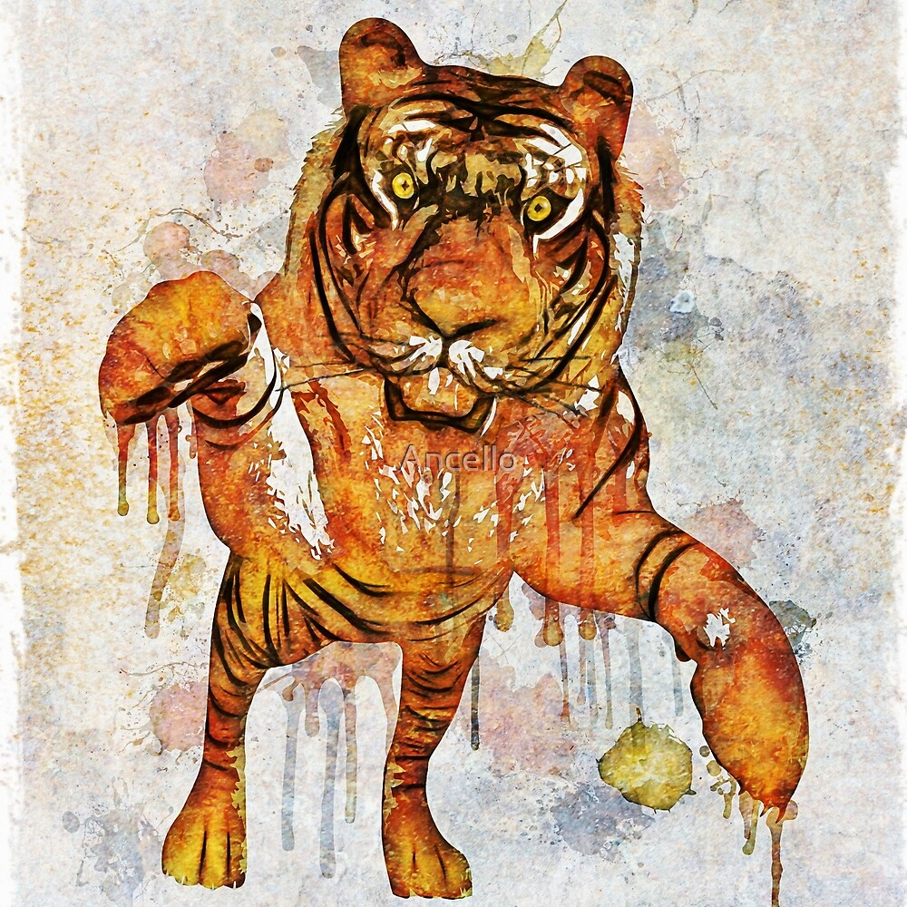 tiger splash ! by Ancello