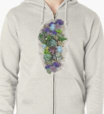 South Africa  Succulents Zipped Hoodie