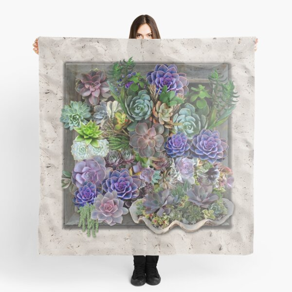 South Africa  Succulents Scarf