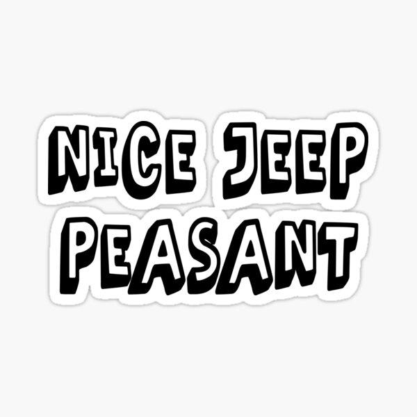 Belle Jeep Paysan Sticker