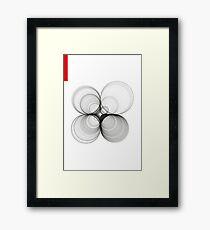 Paths dû aux circles Framed Print