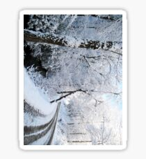 the old snowy road 2 Sticker
