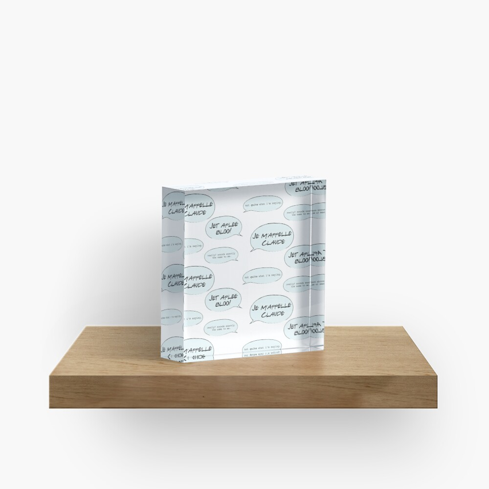 French Lesson Acrylic Block