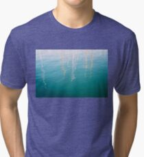 Abstract Mast Water Reflections Tri-blend T-Shirt