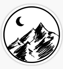 Sketchy Mountain Sticker