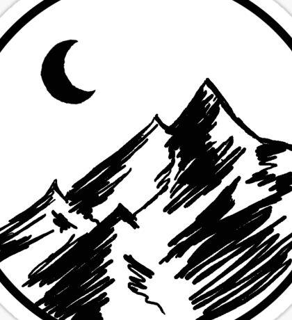 Sketchy Mountain Sticker