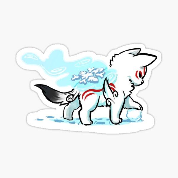 Okami d'hiver Sticker