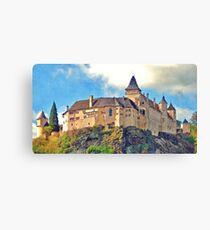 Austria - Rose castle Canvas Print