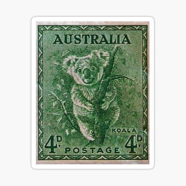 """""""1937 Australia Koala Stamp"""" Sticker"""