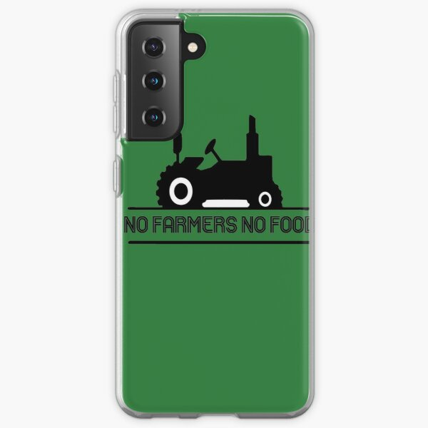 No Farmers No Food Essential T-Shirt, We Support Our Farmers No Farmers No Food Classic T-Shirt, Artwork in support for farmers Samsung Galaxy Soft Case