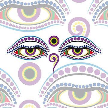 Buddha eyes 1 by f-zimba