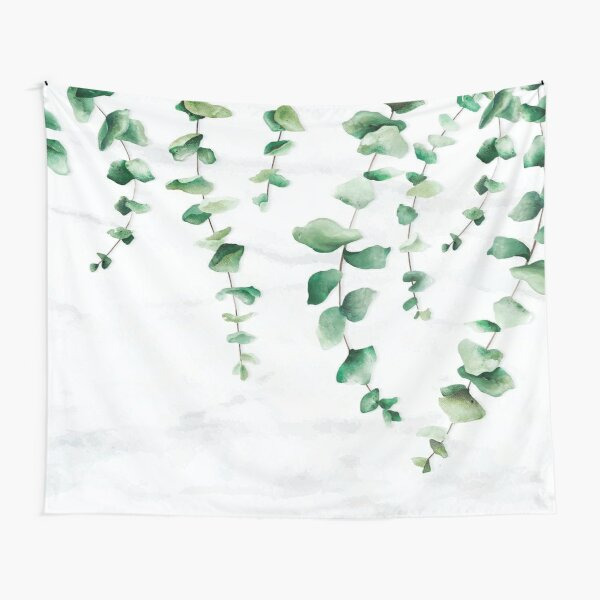 Eucalyptus Leaves Art Tapestry