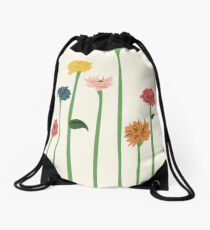 Zinnias Drawstring Bag