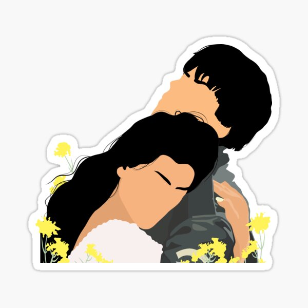 DDLJ - Simran and raj Sticker