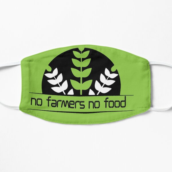 No Farmers No Food Essential T-Shirt, We Support Our Farmers No Farmers No Food Classic T-Shirt, Artwork in support for farmers Flat Mask